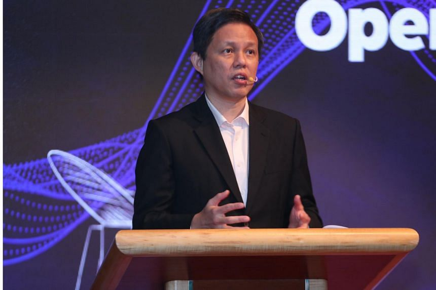 Trade and Industry Minister Chan Chun Sing speaks at the Pro-Enterprise Panel and Singapore Business Federation Awards ceremony on Nov 20, 2020.
