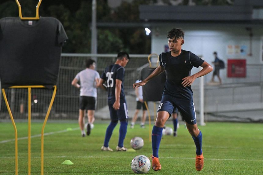 Khairin Nadim has featured in eight of the Young Lions nine matches this season.