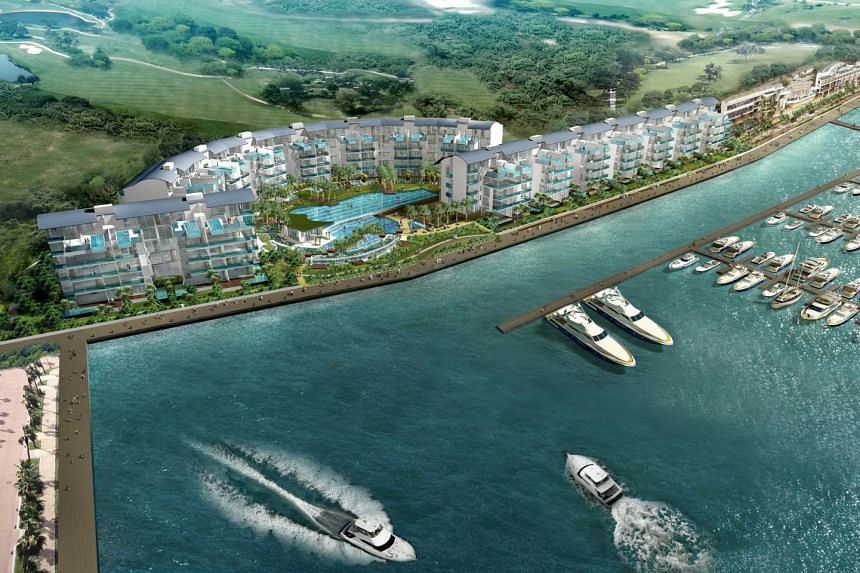 An artist's impression of the 124-unit Lippo Marina Collection.