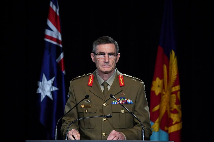 Chief of the Australian Defence Force General Angus Campbell delivers the findings from the Inspector-General of the Australian Defence Force Afghanistan Inquiry, on Nov 19, 2020.