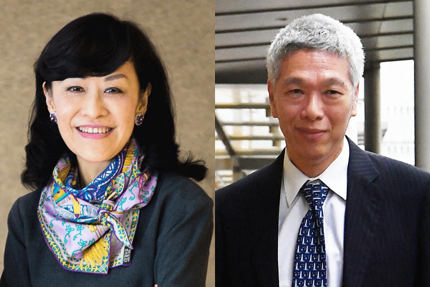 Mrs Lee Suet Fern (left) and her husband, Mr Lee Hsien Yang.