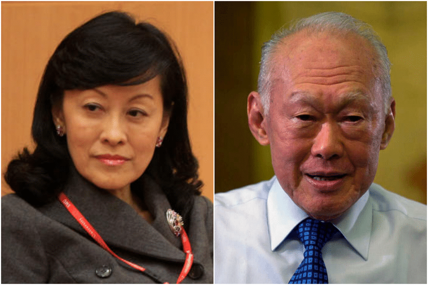 The court said an implied retainer situation involving Mrs Lee Suet Fern (left) did not exist in the case of Mr Lee Kuan Yew's last will.