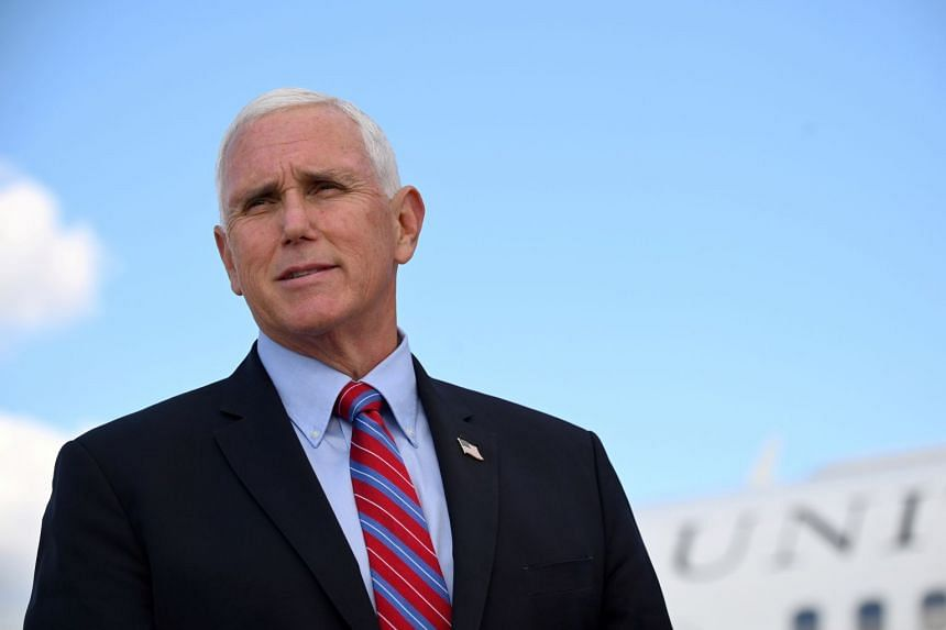 "Pence arrived in Georgia for ""Defend the Majority"" rallies in Canton and Gainesville."