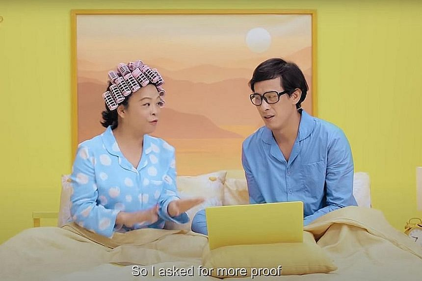 """A screengrab from a short film playing out a telco-related scam scenario, part of Singtel's """"Jaga your data"""" scam awareness campaign which was launched yesterday to help the telco's customers recognise the tell-tale signs of a scam."""