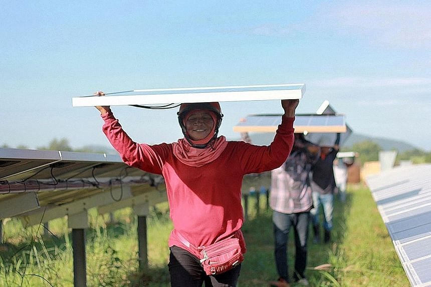 SOLAR The Siam Solar project groups 10 solar photovoltaic power plants across central Thailand that deliver clean energy to the national grid. WIND This Taiwanese project, with 62 wind turbines spread across two coastal farms close to Changbin and Ta