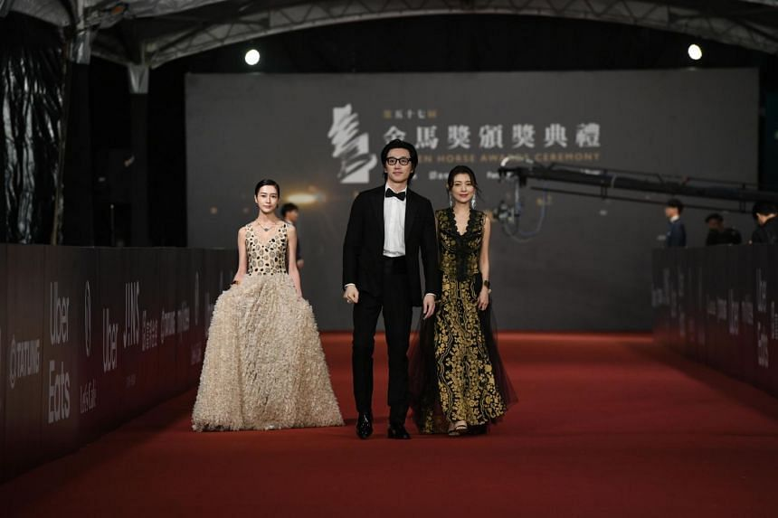 (From left) Taiwanese actress Nayeli, Singapore photographer-turned-actor Chuando Tan and Taiwanese Chang Tzu-lei.