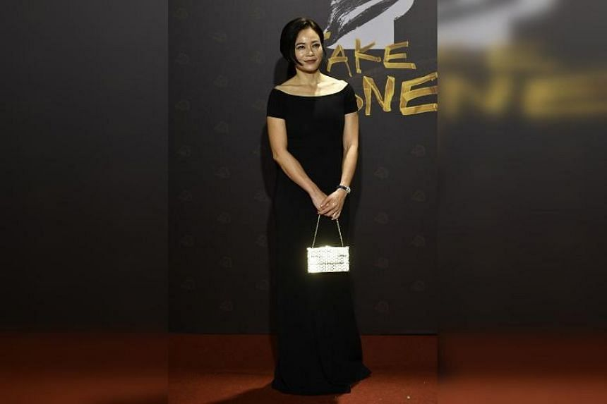 Malaysian actress Yeo Yann Yann arrives on the red carpet at the 57th Golden Horse film awards in Taipei, on Nov 21, 2020.