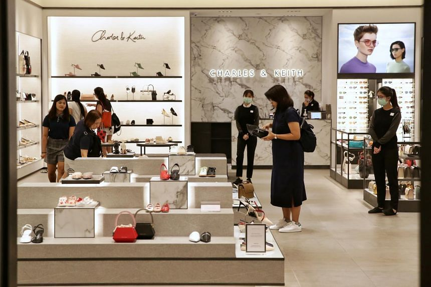 A retail outlet of Charles & Keith Group in Suntec City Mall on Feb 9, 2020.