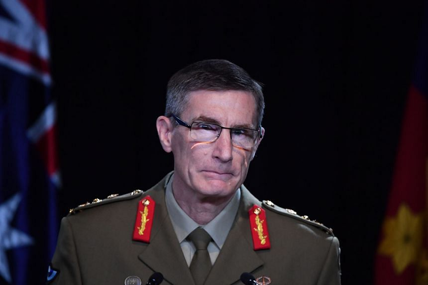 General Angus Campbell, chief of the Australian Defence Force, delivering the findings from the Inspector-General of the Australian Defence Force Afghanistan Inquiry in Canberra on Thursday. The report recommended referring 19 current and former sold