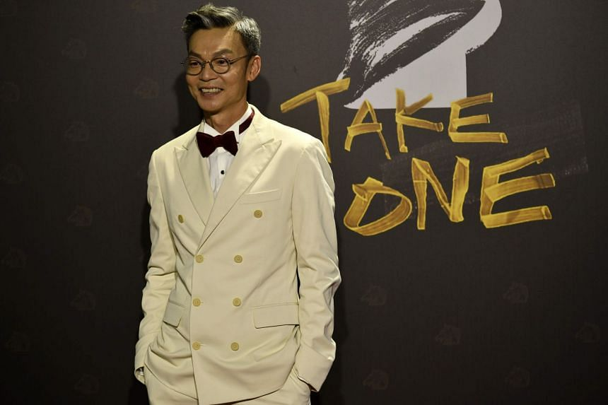 Actor Mark Lee arrives on the red carpet at the 57th Golden Horse film awards in Taipei on Nov 21, 2020.