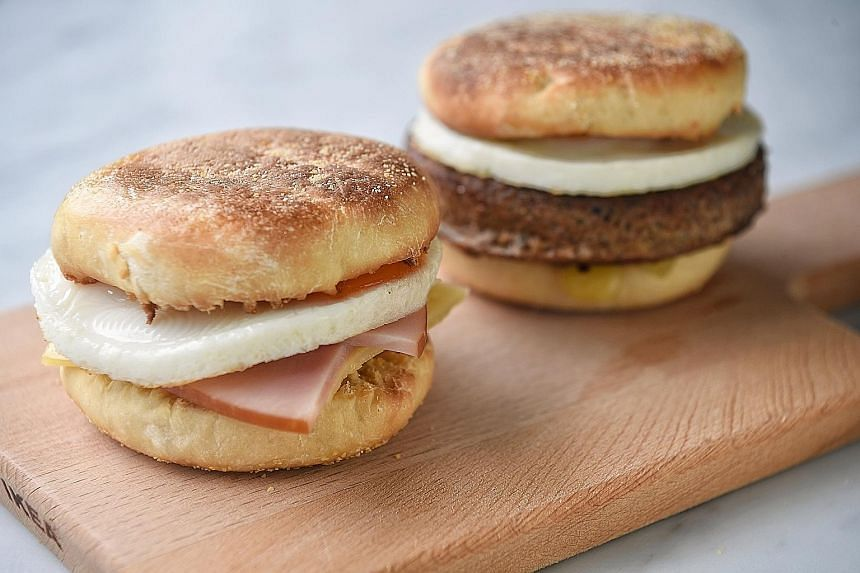 Wean kids off fast food with breakfast sandwiches made with from-scratch bread such as these English muffins, and have them with your choice of ingredients and spreads.