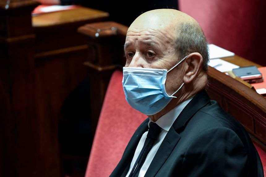 "Foreign Minister Jean-Yves Le Drian said Turkey had been sending ""Syrian mercenaries"" to Nagorno-Karabakh."