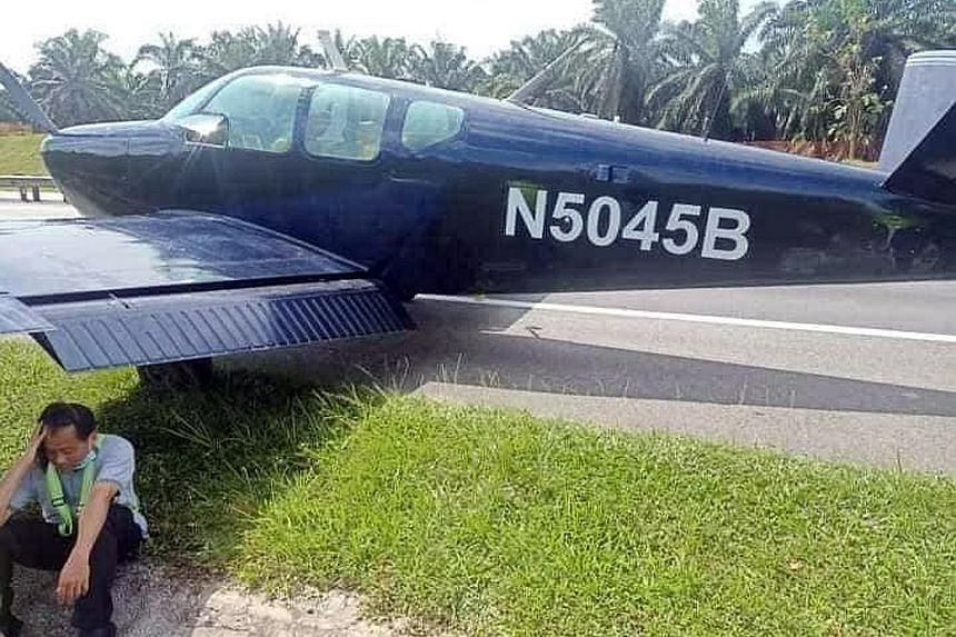The Civil Aviation Authority of Malaysia said the Beechcraft Model 35 Bonanza plane landed on a part of the North-South Expressway near Sedenak in Kulai district in Johor. Several pictures and videos circulating online show the plane parked on a road