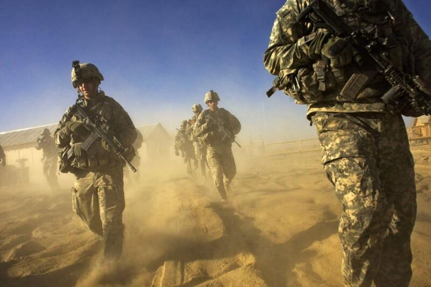 US Army soliders from 1-506 Infantry Division patrol the Paktika province, situated along the Afghan-Pakistan border.