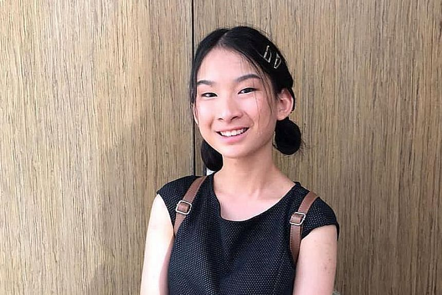 """Two of Jayne Peh's songs made the winning list in the """"Xin Kong Xia"""" National Schools Xinyao Songwriting Competition. PHOTO: JAYNE PEH"""