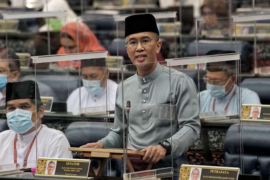 Malaysian Finance Minister Tengku Zafrul Aziz presenting the 2021 Budget in Parliament in Kuala Lumpur, on Nov 6, 2020.