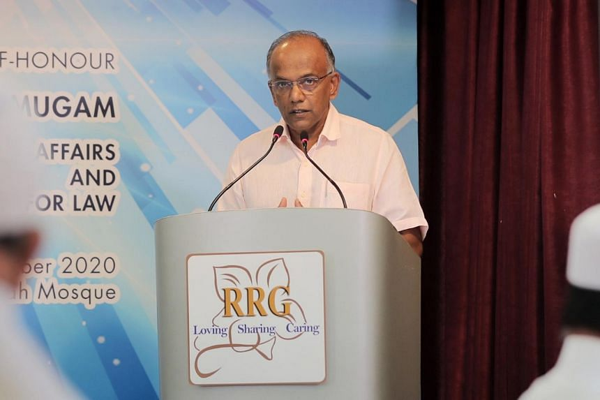 Minister for Home Affairs and Law K. Shanmugam held up the Religious Rehabilitation Group for swiftly condemning acts of violence, following the beheading of a teacher in Paris.