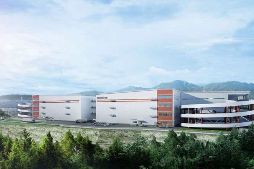 Artist's impression of the logistics development, set to be the largest warehouse space in Kyushu upon completion.