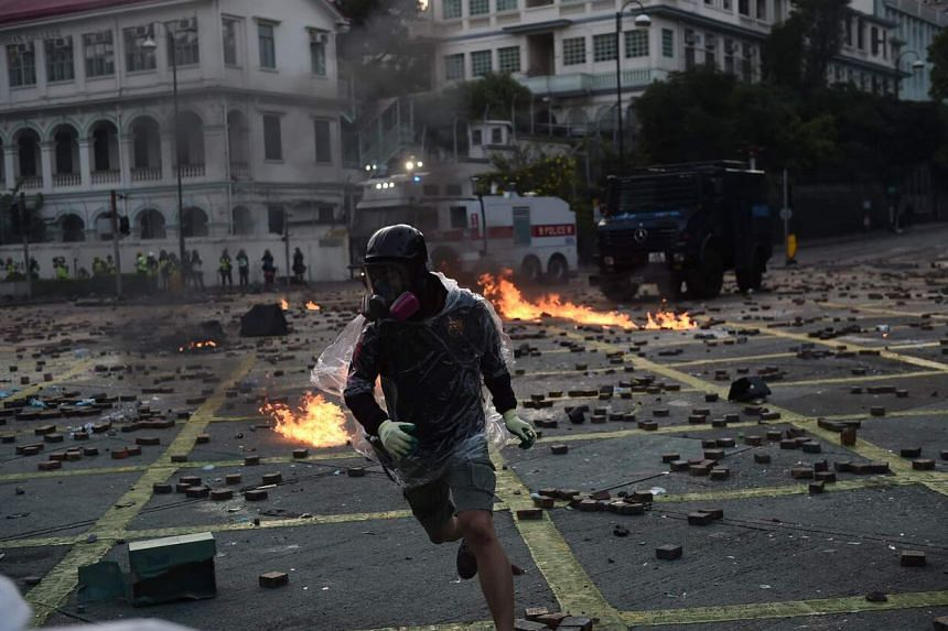Police and student protesters faced off at Hong Kong Polytechnic University in a chaotic 16-day siege last November.