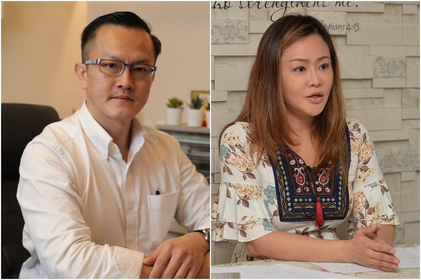 Dr Julian Ong (left) had sued Ms Serene Tiong for defamation.