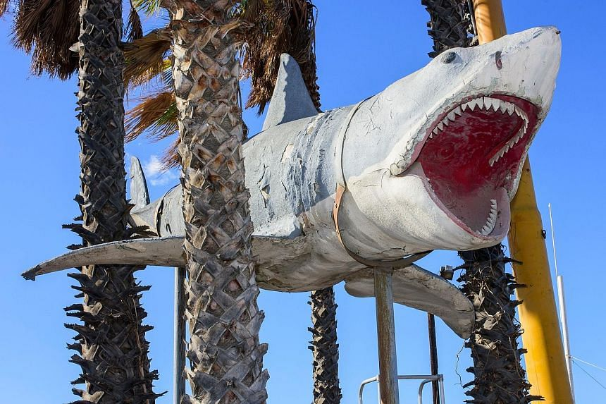 The blockbuster's 7.6m shark has been installed at the Academy Museum in Los Angeles, which is set to open in April.