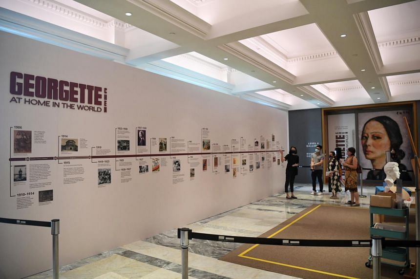 The exhibition, spread over two galleries, includes 69 paintings and 74 pieces of archival material.