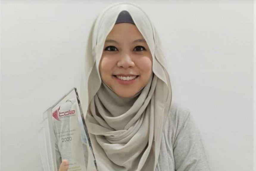 Madam Nur Kamilah Abdul Rahman is the winner of the NS Advocate Award for Individuals.