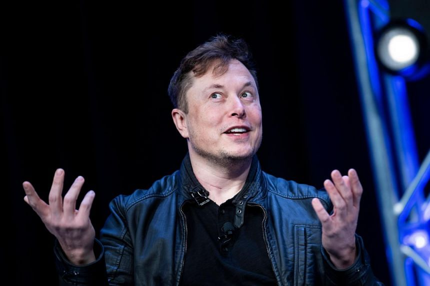 About three-quarters of Mr Musk's net worth is comprised of Tesla shares.