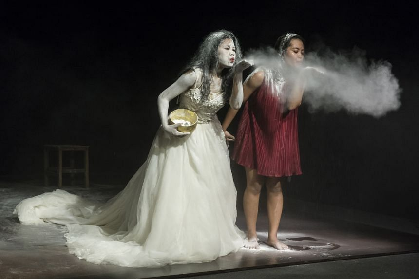 Dance group New Cambodian Artists' Snow Whitening Revisited.