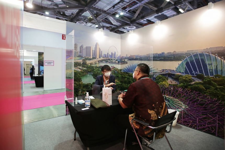 A total of 36 exhibition booths were set up, with each exhibitor getting a dedicated meeting pod to take discussions further.
