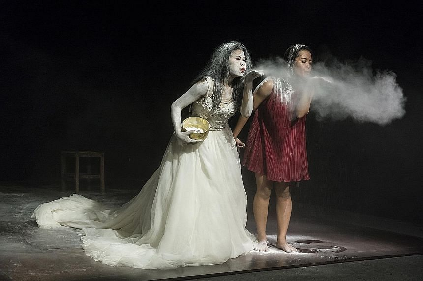 Nine events will be presented at the M1 Singapore Fringe Festival, including dance group New Cambodian Artists' Snow Whitening Revisited (left), which asks questions about the importance of traditions and the role women play in maintaining them.