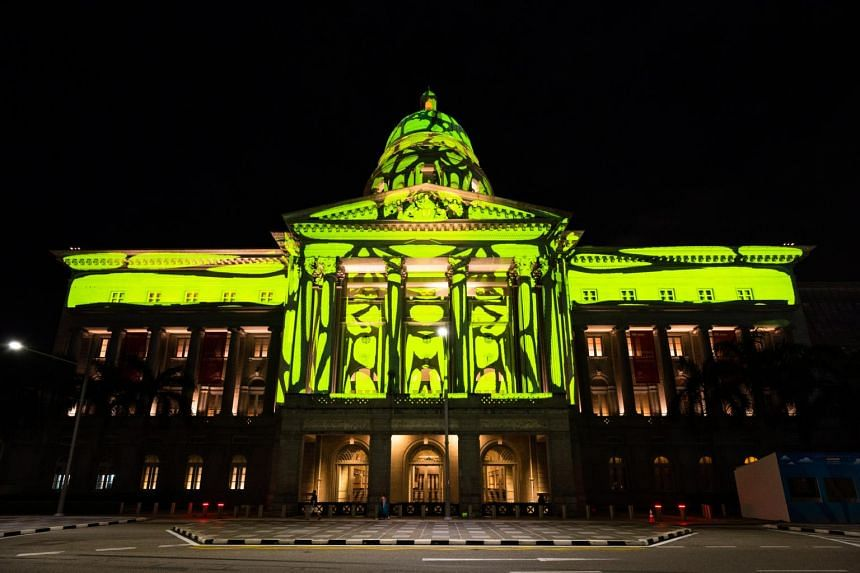 The National Gallery Singapore's Light To Night Festival in the Civic District will be returning in Jan 2021, as part of Singapore Art Week.