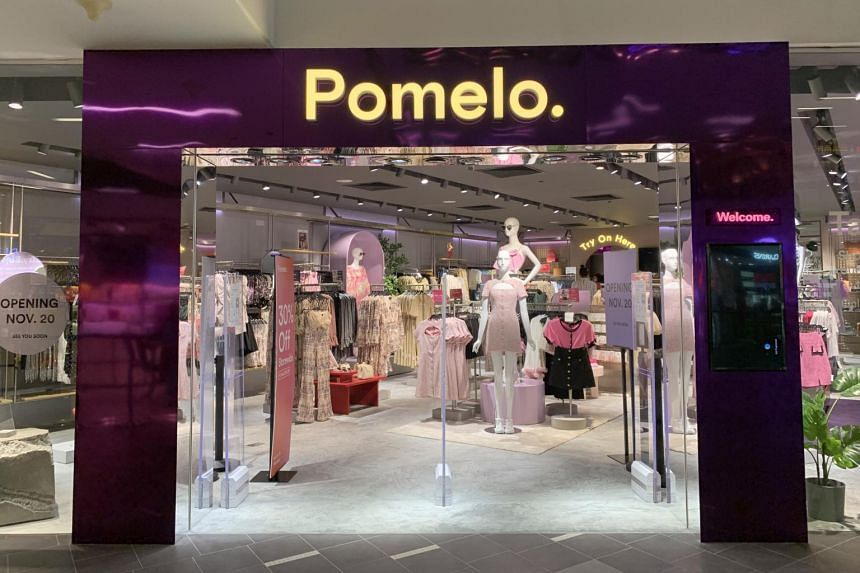 Pomelo's new 1,500 sq ft store opened at the Nex mall in Serangoon on Nov 20, stocking more than 2,500 products.