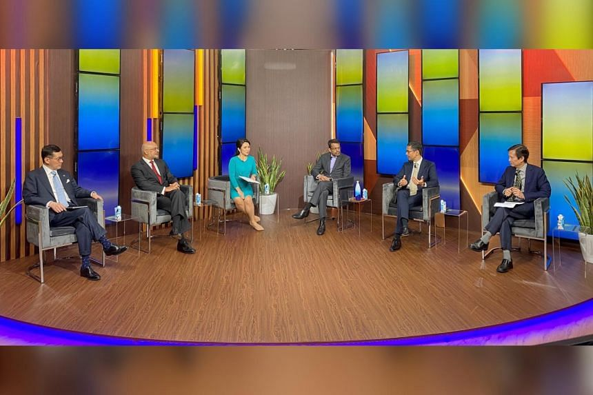 The panel was discussing employment prospects in the finance industry.