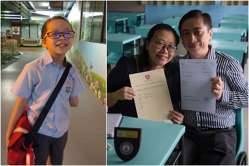 Raphael Lee took his PSLE despite undergoing therapy for cancer, but died on Nov 13. His parents William and Winnie Lee collected his results on his behalf on Nov 25, 2020.