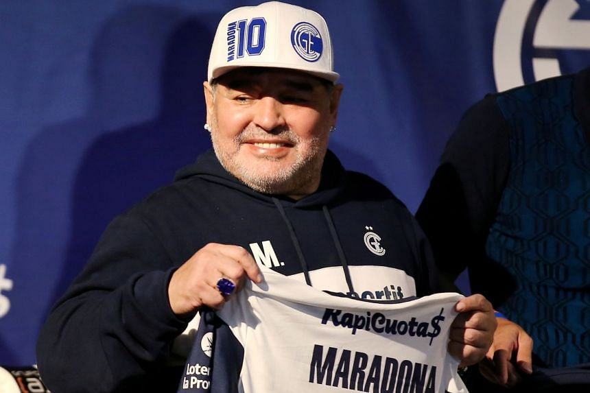 Diego Maradona in a file photo from 2019.