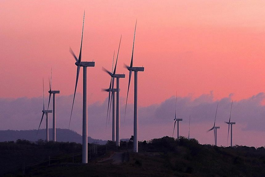 Indonesia's first wind farm, located in South Sulawesi. A report says that while South-east Asian economies have not been focused on green stimulus spending, that is starting to change. ST FILE PHOTO