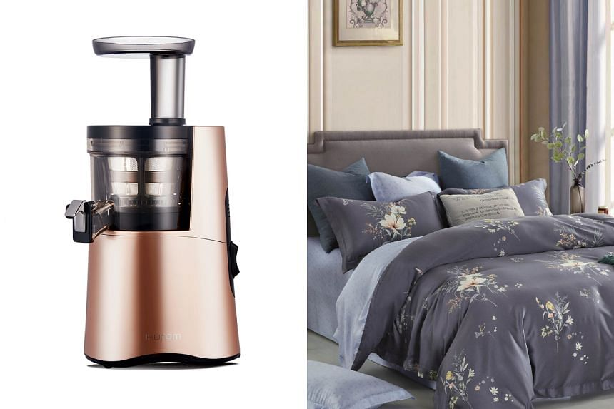 The Hurom Slow Juicer and King Koil Amelia Collection are among the products on offer at BHG.