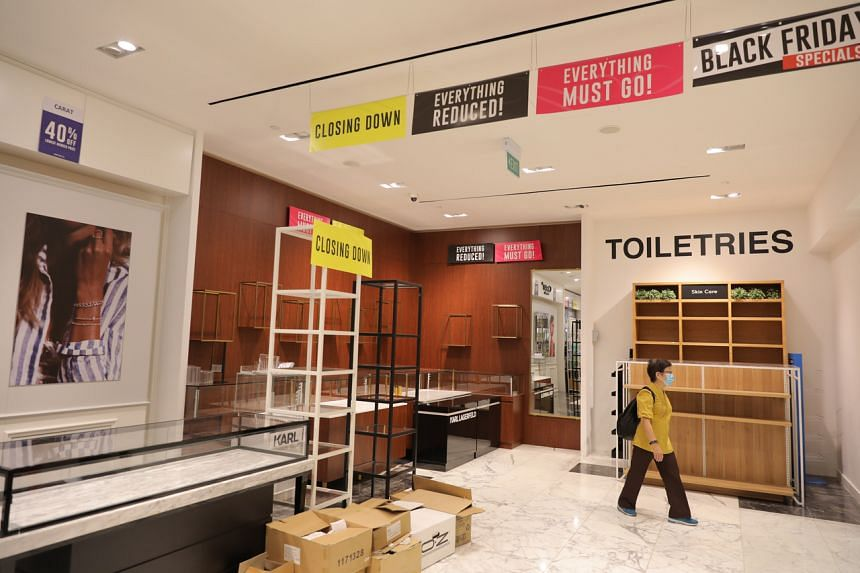 A shopper at the Robinsons outlet at The Heeren on Nov 27, 2020.