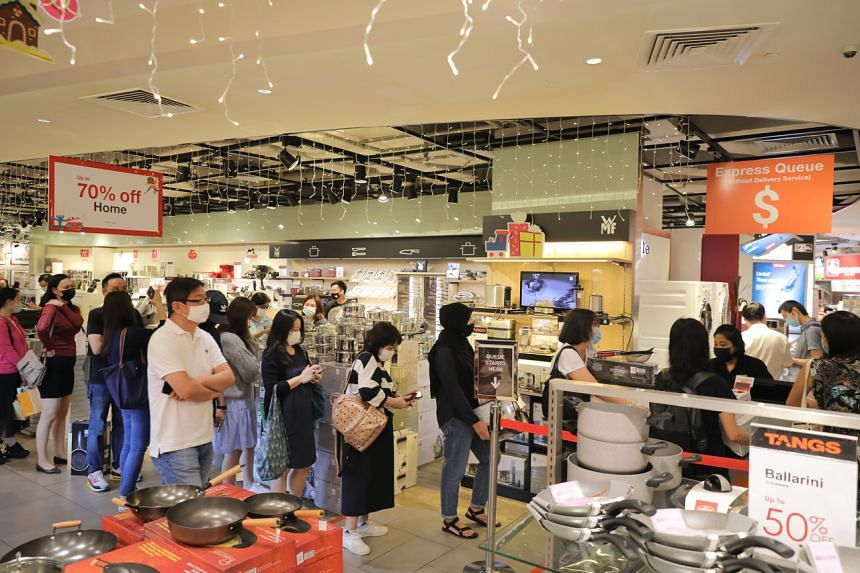 Shoppers at Tangs on Nov 27, 2020.