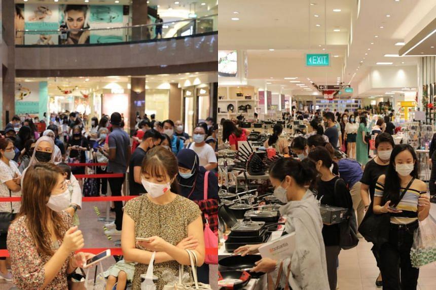 Shoppers at Takashimaya Department Store on Nov 27, 2020.