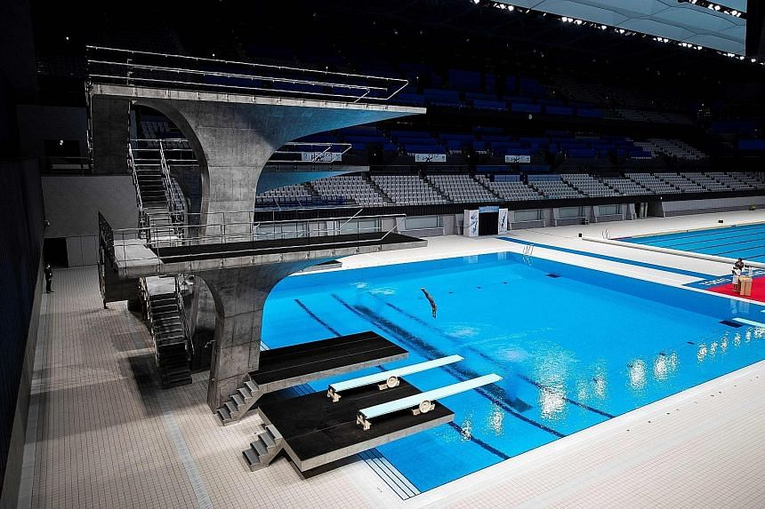 The Tokyo Aquatics Centre will host the Fina artistic swimming Olympic qualifying tournament from March 4-7. It will be the first of the test events that will resume next year.