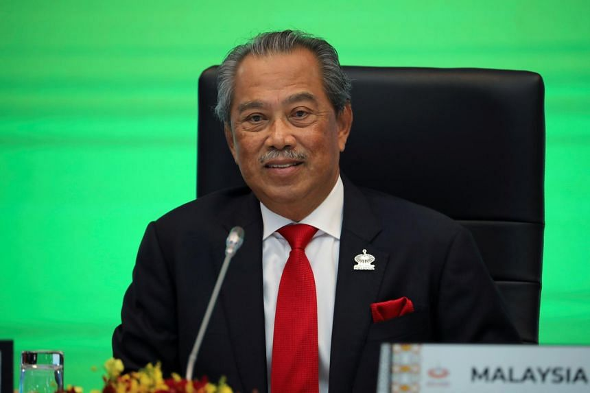 """Malaysia's Prime Minister Muhyiddin Yassin noted the """"difficult and challenging situation"""" faced by his Perikatan Nasional government."""