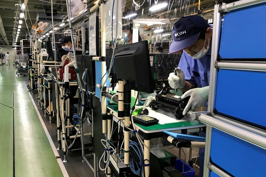 Factory output jumped 3.8 in October from the previous month.