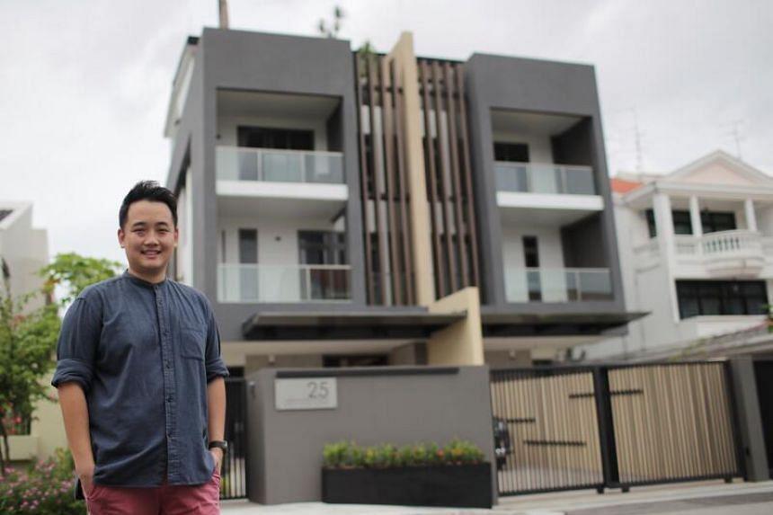 Property investor Aaron Wan at his Telok Kurau home.