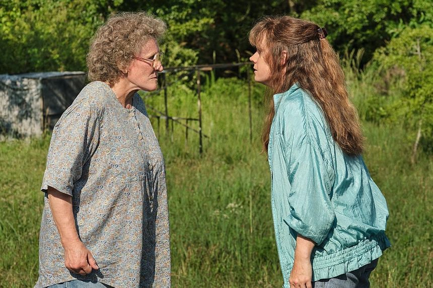 Glenn Close (far left) and Amy Adams (left) star in Hillbilly Elegy, playing two women at the centre of a struggling family from the hills of Kentucky.