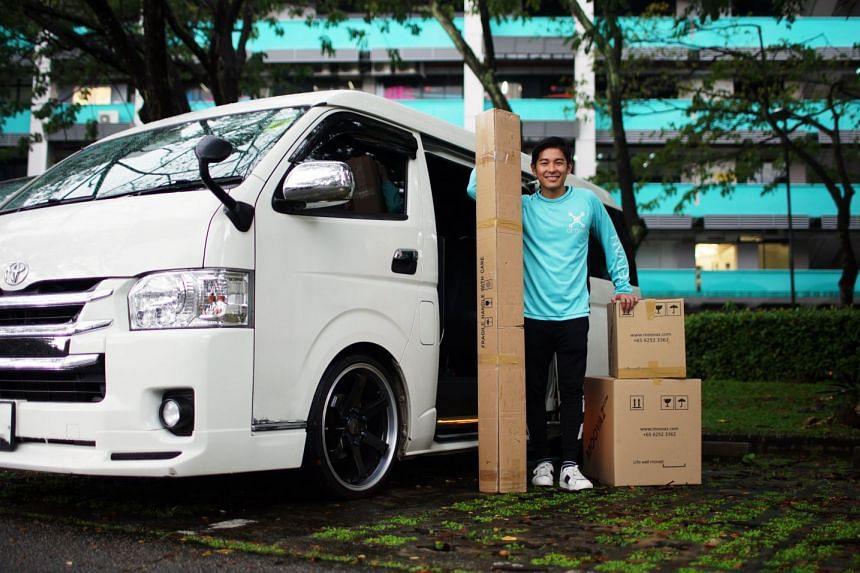 Mr James Neo, founder and CEO of GetVan, an on-demand van rental service. PHOTO: GETVAN