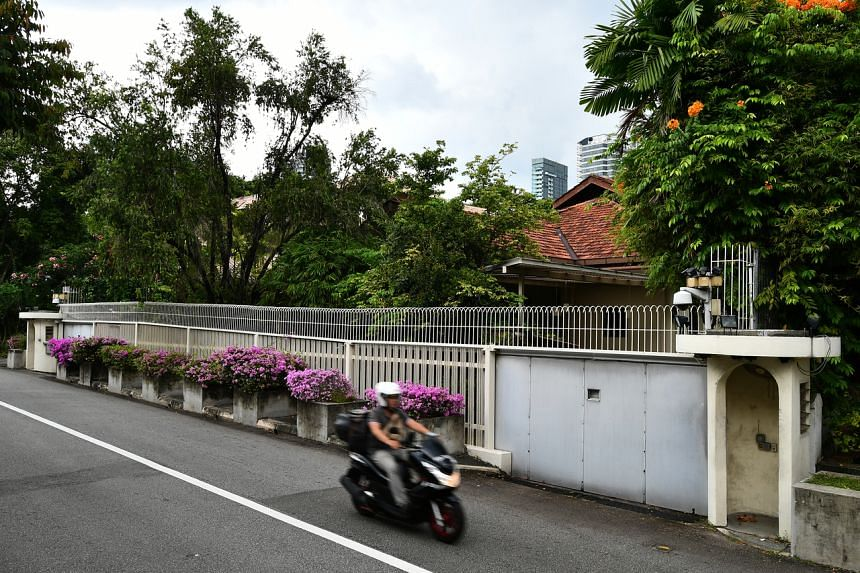 The front gate of 38 Oxley Road, the home of founding prime minister Lee Kuan Yew.