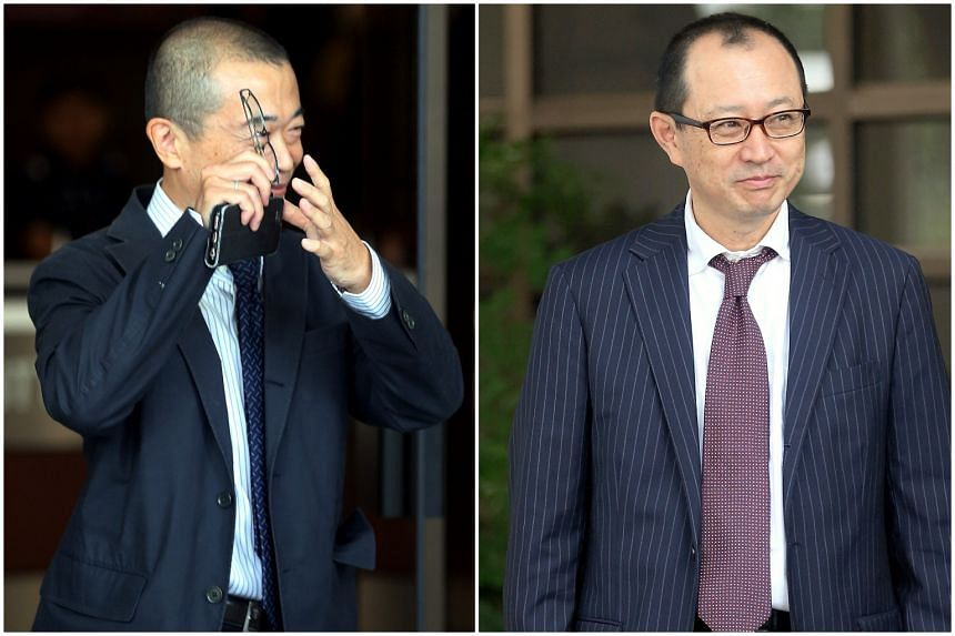 Katsutoshi Ishibe (left) and Takaaki Masui were also each ordered to pay a penalty of more than $1 million.