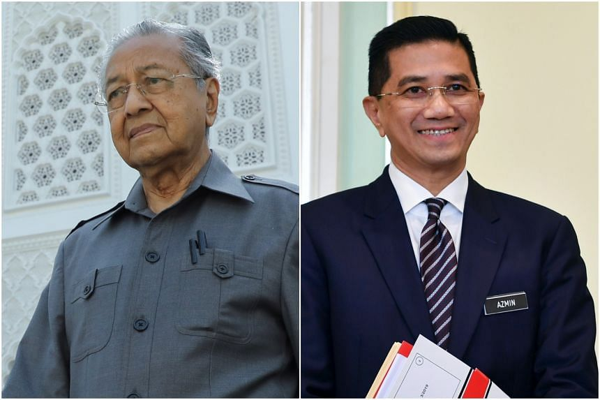 Dr Mahathir (left) offered to testify after Mr Azmin said that it was the former PM's idea to form the PN with Malay parties from both sides of the aisle.